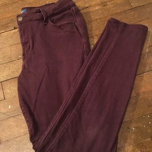 Maroon Mid rise jeans
